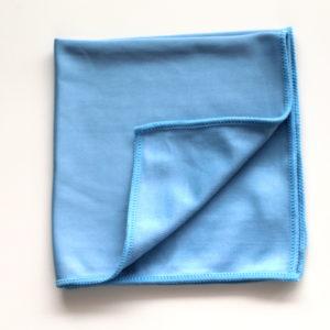Mikrofaser Glastuch glatt blau