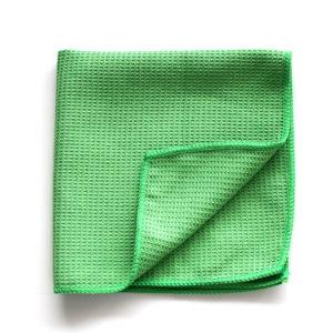 Mikrofaser Glastuch Waffeltuch grün
